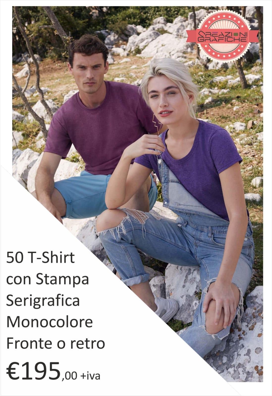 50 T-shirt con Stampa Serigrafica